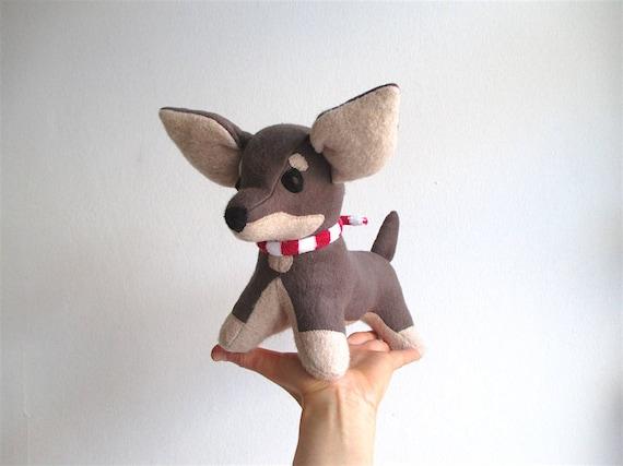 Chihuahua Pinscher Toy Chihuahua Stuffed Dog Organic Puppy Etsy