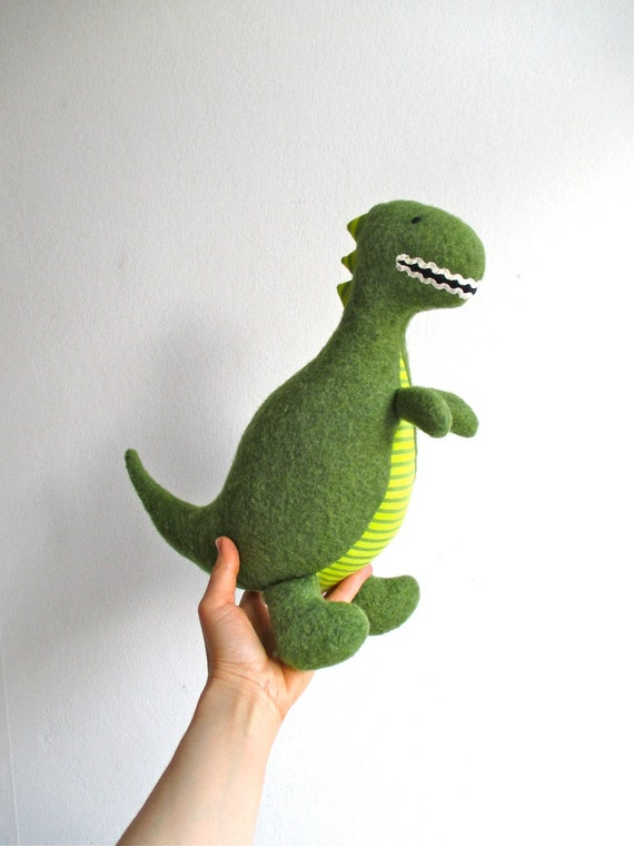 Organic Dinosaur Stuffed Dinosaur Toy T Rex Stuffed Toy Etsy