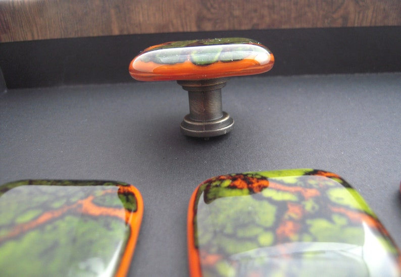 Fused glass cabinet knobs furniture drawer pulls and knobs kitchen knobs bathroom vanity decorative knobs handcrafted cabinet hardware
