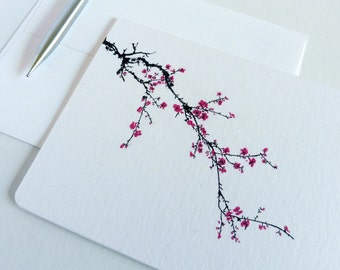 Japanese Cherry Blossom Boxed Note Cards