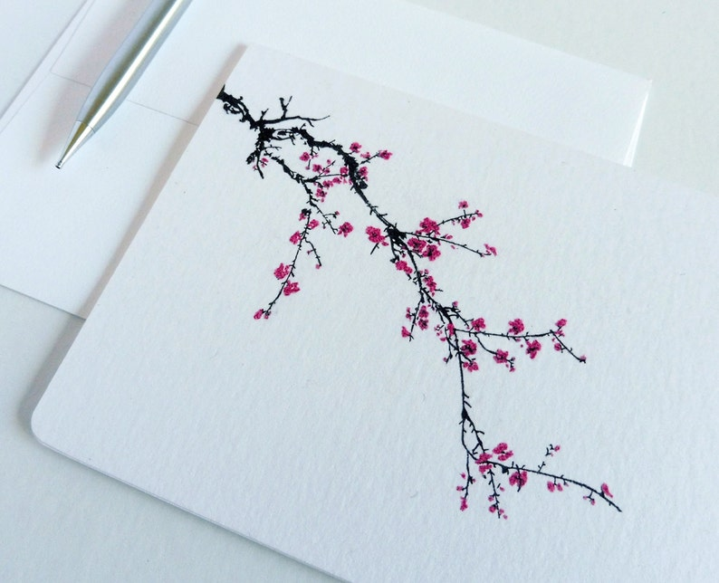 Japanese Cherry Blossom Boxed Cards