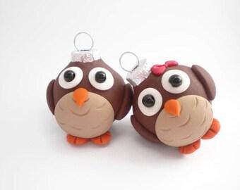 Owl Mini Christmas Ornaments, FREE SHIPPING