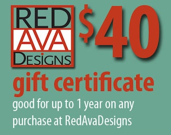 Gift Certificate (Any Value) for RedAvaDesigns