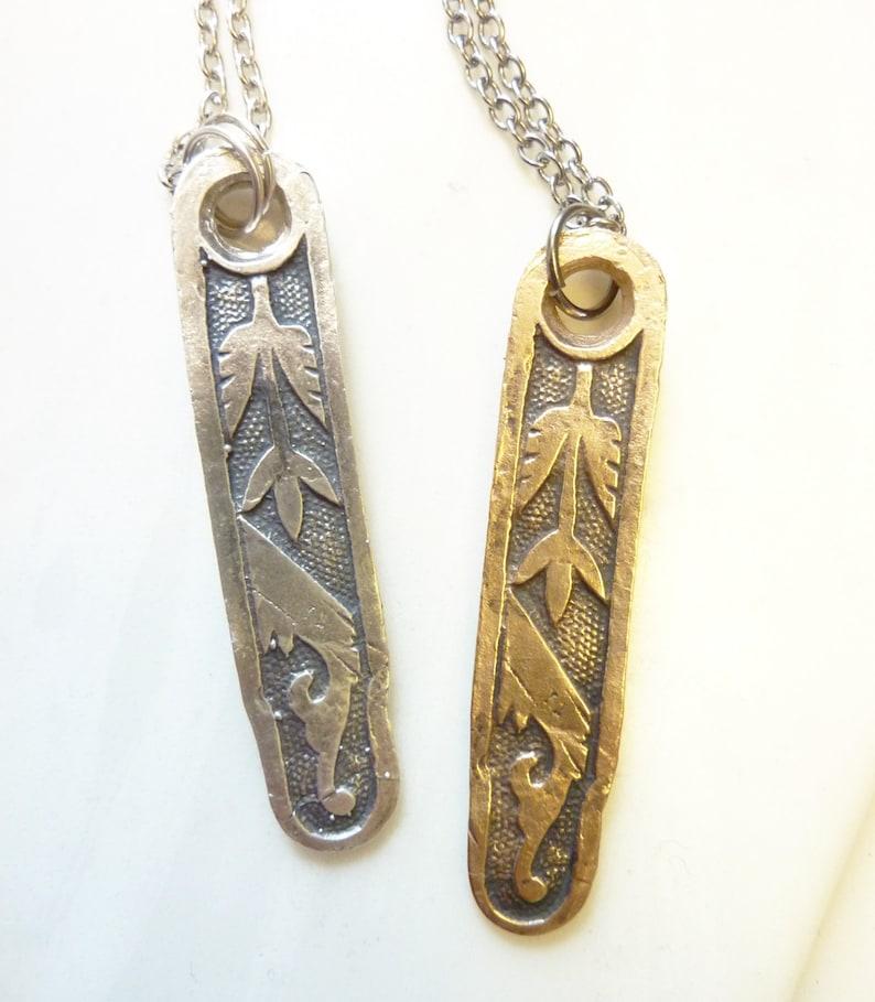 Eastlake Pendant Bronze or Sterling Silver Arts & Crafts image 1