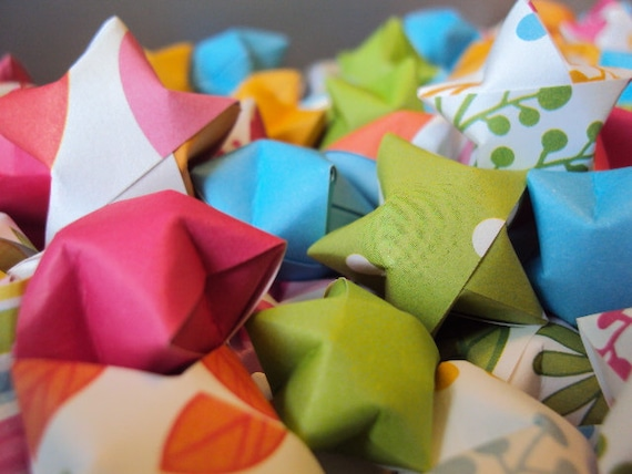 Reach For The Stars Origami Wishing Stars With Inspirational Etsy