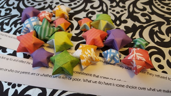 100 Origami Wishing Stars With Customizable Messages Etsy