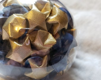 Origami Star Filled Globe Ornament MADE TO ORDER