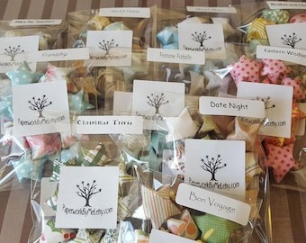 Bundle of 10 Sample Packs of Origami Wishing Stars with Quotes Inside MADE TO ORDER