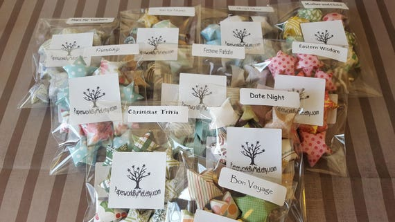 Bundle Of 10 Sample Packs Of Origami Wishing Stars With Quotes Etsy