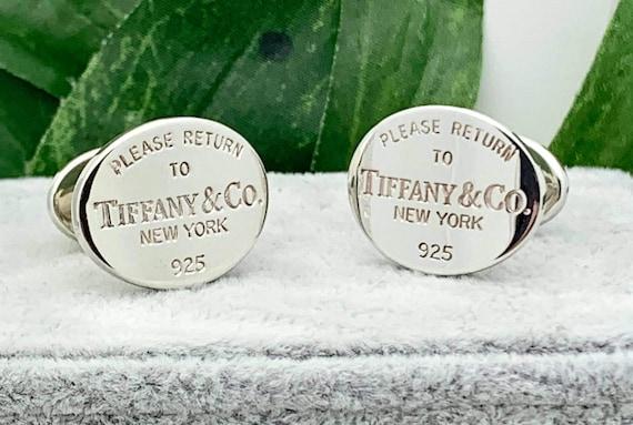 SS Tiffany & Co. Cufflinks,Estate,Vintage Mens Jew