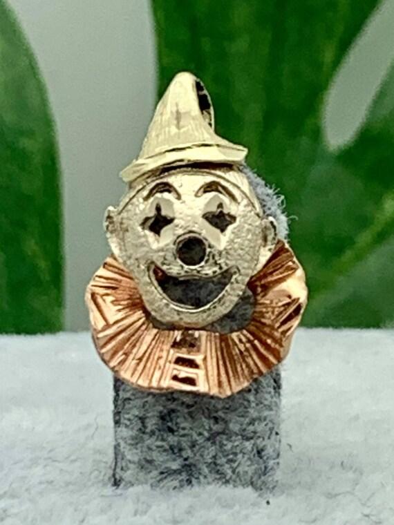 14K Gold Clown Vintage Charm- Estate 1970s- Yellow