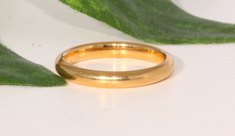 Tiffany Co Yellow Gold Wedding Band 18k Yellow Gold 2 5mm Etsy