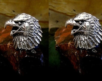 Eagle Cufflinks in solid sterling silver Free Shipping