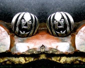 Jack O Lantern Cufflinks Sterling Silver Free Shipping