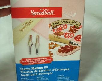 SPEEDBALL Stamp Making Kit.