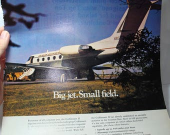 1968 GRUMMAN GULFSTREAM II Corporate Jet Ad.