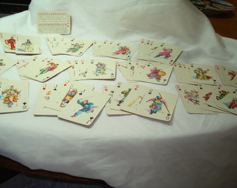 Vintage Chinese  Fighting Warrior Noblemen  Playing Cards.