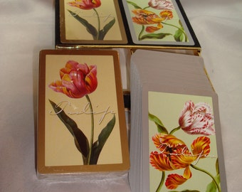Vintage CONGRESS Tulips Playing Cards.