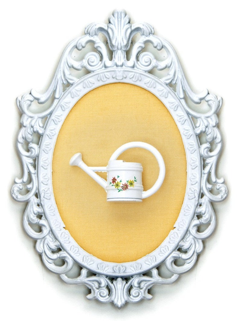 Miniature Watering Can  Victorian Framed Object  Wall Art image 0