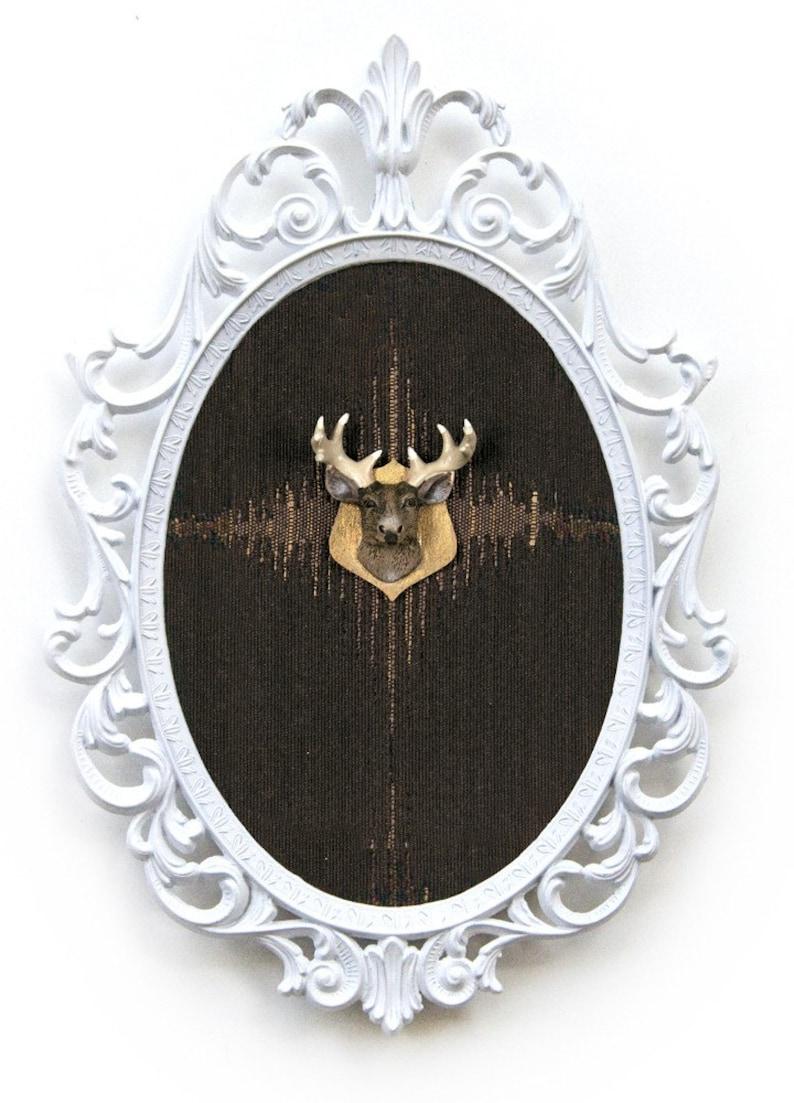 Miniature Deer Head Mount  Faux Taxidermy  in Victorian image 0