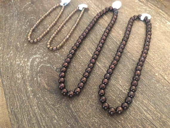 200 Assorted Sizes 4mm 6mm 8mm 10mm Glass Pearl Beads Bronze