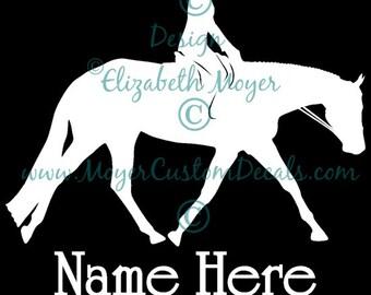 Horse Rider Vinyl Decal Sticker E PERFECTION DRESSAGE