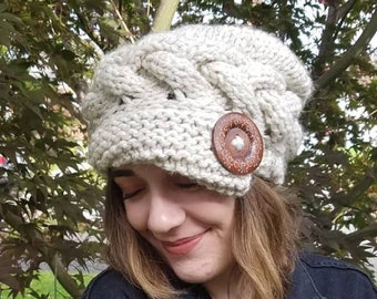 Slouchy cable hat 58b57cac0bd