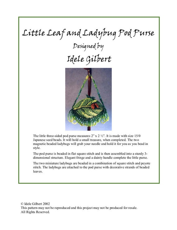 Little Leaf and Ladybug Pod Purse
