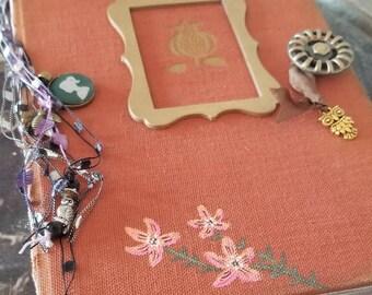 Garden House Junk Journal Handmade Book - Handpainted Flowers