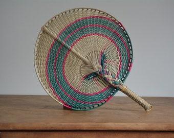 Vintage Woven Wall Hanging | Vintage Woven Fan | Vintage Mexican Decor | Mexican Fan | Mexican Woven Fan | Folk Art | Boho Decor | Woven Fan