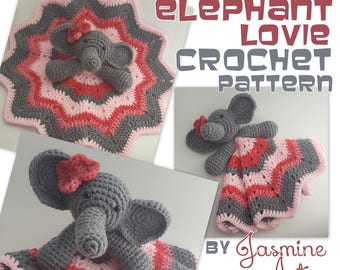 Elephant Lovie Security Blanket Crochet Pattern