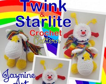 Twink and Starlite Rainbow Brite Crochet Pattern