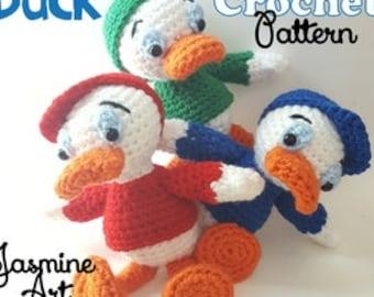 Huey Dewey and Louie Duck Crochet Pattern
