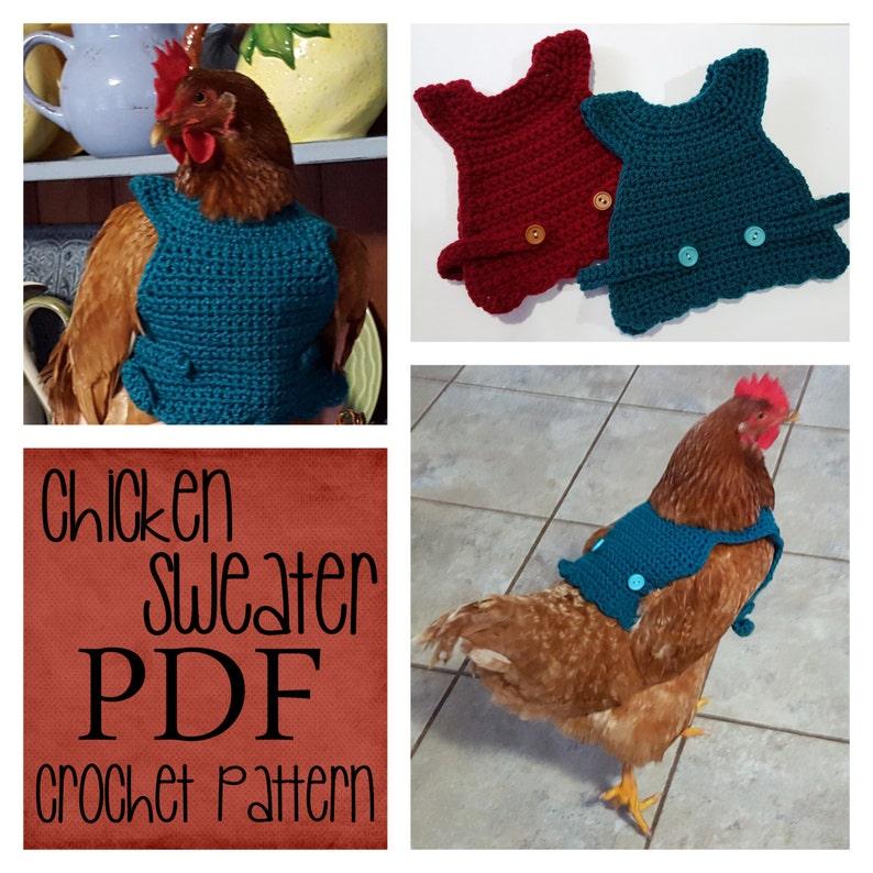Chicken Sweater Crochet Pattern