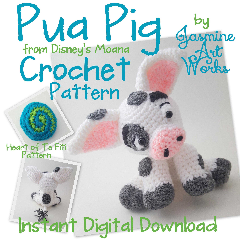 Pua Pig Crochet Pattern Etsy