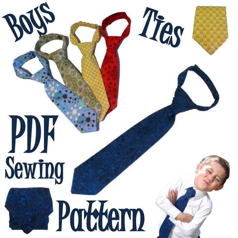 Boys Neck Tie PDF Sewing Pattern image 0