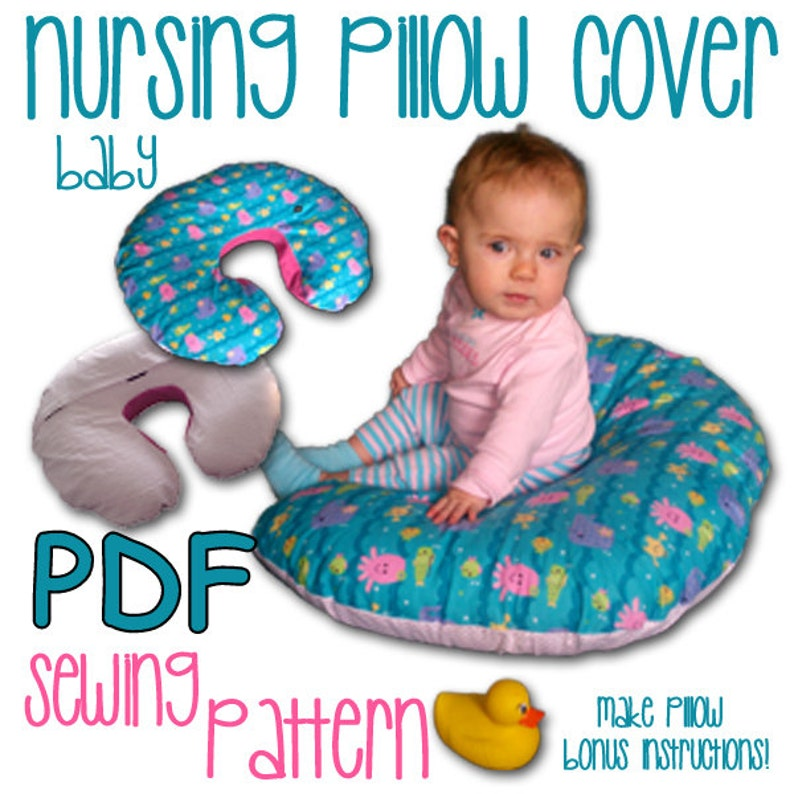 Mom and Baby Nursing Pillow Cover PDF Sewing Pattern image 0