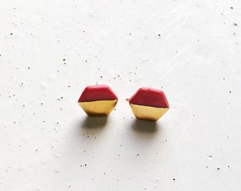 Red Gold Dipped Earrings
