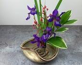 Flower Dish- Ikebana- Flower Tray - Flower Display - Handmade Stoneware Flower Vase - In Stock and Ready to Ship