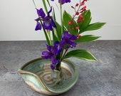 Flower Dish - Ikebana Flower Dish - Flower Tray - Ikebana Flower Vase - Handmade Stoneware Flower Dish - Mothers Day Gift - Ready to Ship