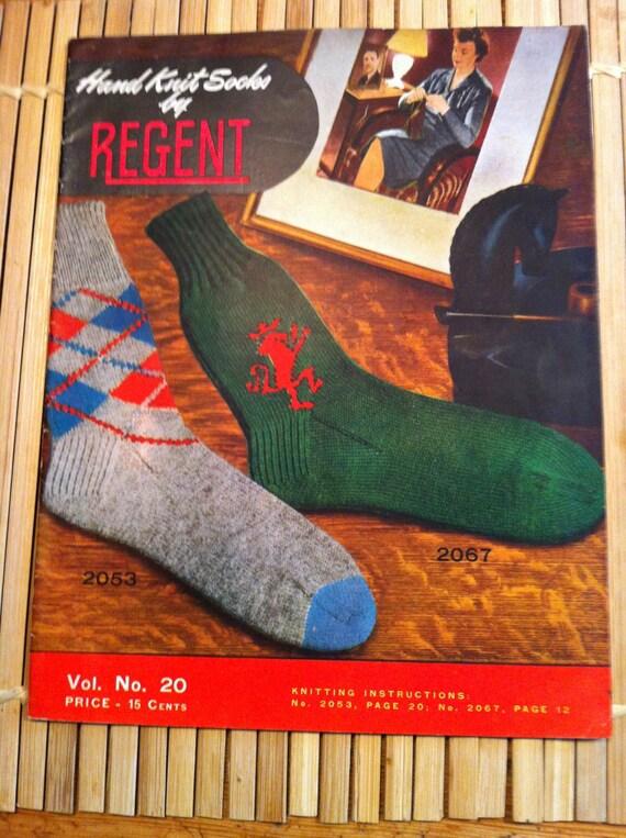 Vintage Socks For Men And Women Hand Knit Socks By Regent Etsy