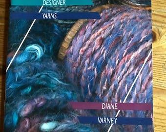 1987 Spinning Designer yarns paperback dye spin making yarn by diane Varney