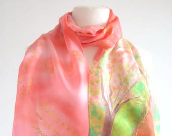 White Way of Delight scarf, Anne of Green Gables book quote scarf