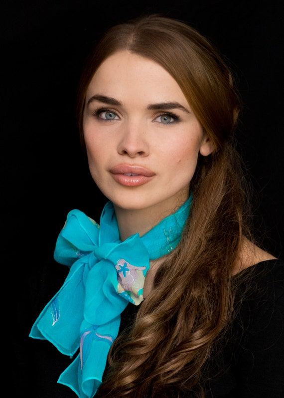 1715544ec934 Sirène foulard écharpe cheveux bandeau foulard en soie   Etsy
