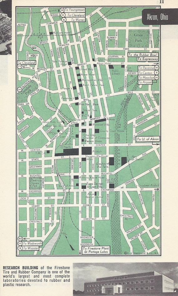 Akron Ohio Map, Vintage Map, City Map, Street Map, 1950s, 2 Sided, on street map of fairlawn ohio, map of grand lake ohio, map of montrose ohio, map of berlin heights ohio, map of bratenahl ohio, map of sharon center ohio, map of frazeysburg ohio, map of walbridge ohio, map of copley ohio, map of cuyahoga river ohio, map of new holland ohio, map of california ohio, map of cincinnati ohio, map of new york ohio, map of alger ohio, map of franklin township ohio, map of black river ohio, map of nashville ohio, map of cuyahoga falls ohio, map of canton ohio,