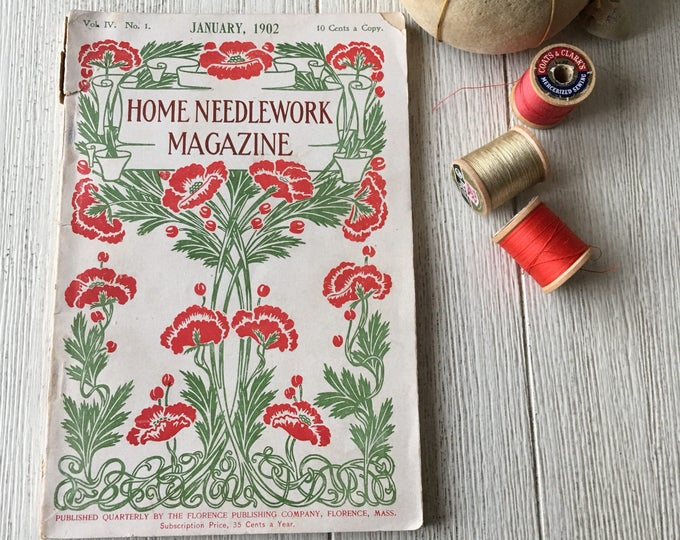 Home Needlework Magazine 1902 Embroidery & Crochet Book