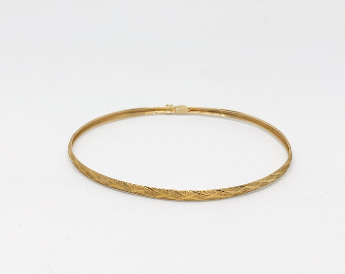 10K Gold Bracelet Thin Bangle Fine Jewelry