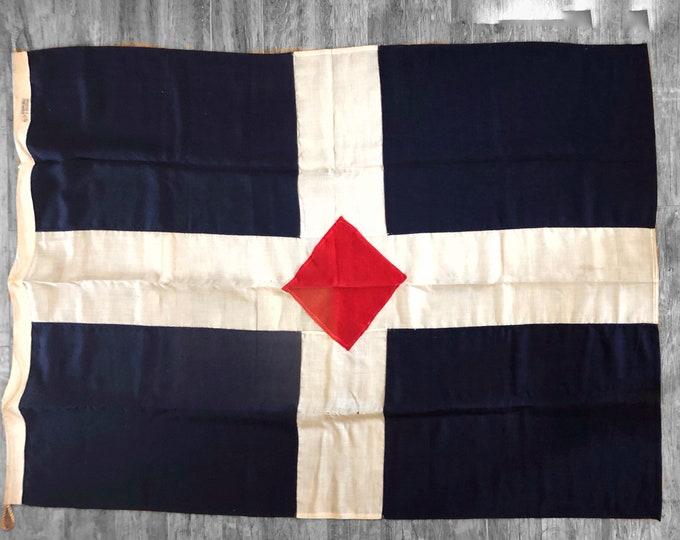 Isthmian Steamship Company Vintage Merchant Marine Maritime Flag