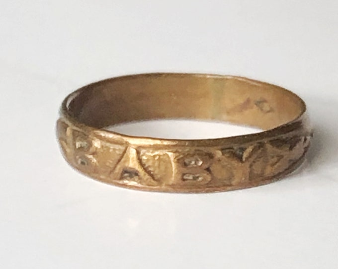 Antique Baby Ring Above Knuckle Rings Vintage Jewelry Size 2-1/4