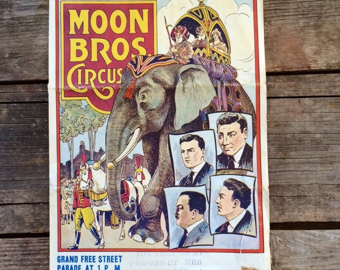 1920s Circus Poster Moon Brothers